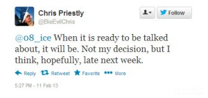 Priestly's Tweet